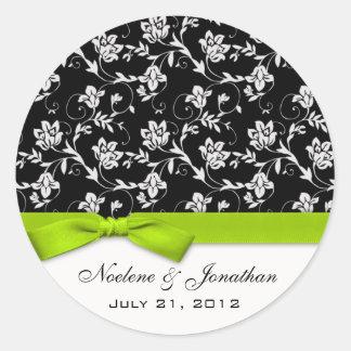 Lime Bow Wedding Flower Sticker