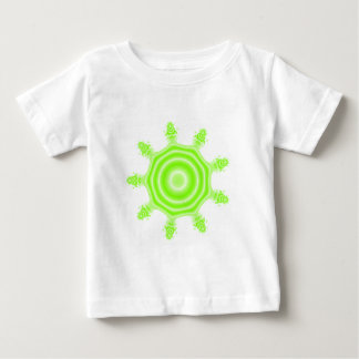 Lime Burst Fractal. Green and white. Baby T-Shirt