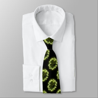 Lime Chalk Drawn Merry and Bright Holiday Tie