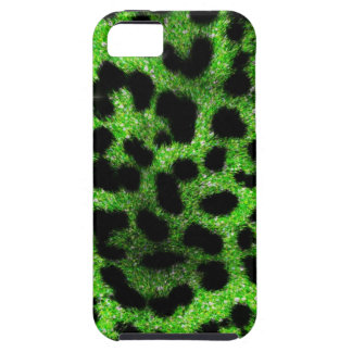 Lime Cheetah Glitter iPhone 5 Cover