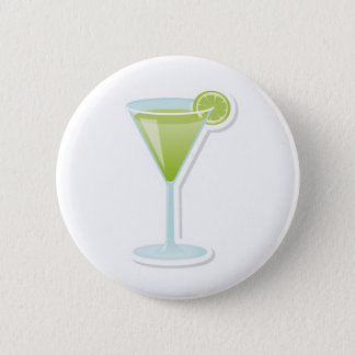 Lime cocktail 2 inch round button
