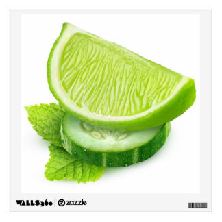 Lime, cucumber and mint wall decal