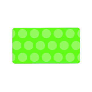 Lime Dots Label