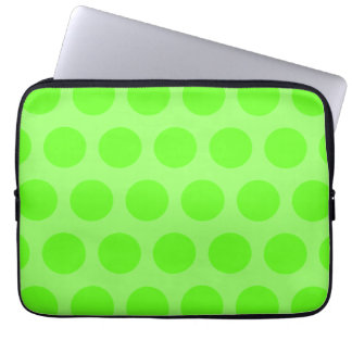 Lime Dots Laptop Sleeves