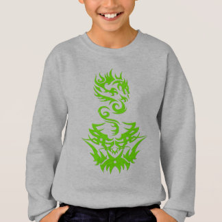 Lime Dragon 2 tattoo Sweatshirt