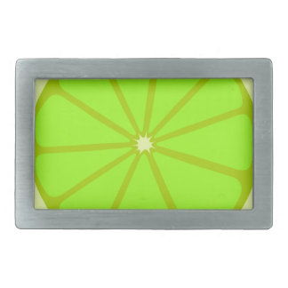 Lime Drawing Rectangular Belt Buckle