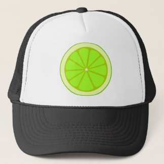 Lime Drawing Trucker Hat