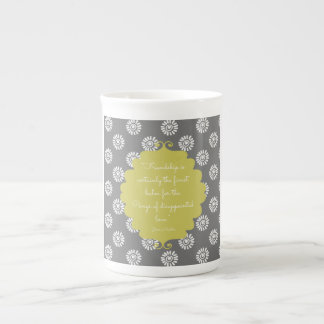 Lime elegant Jane Austen quote bone china mug