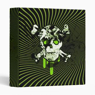 Lime Embellished Skull Vinyl Binder