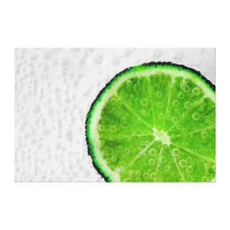 Lime Fizz Canvas Print