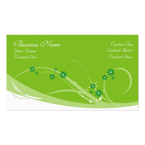 Lime Flowers Business Cards