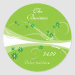 Lime Flowers Stickers