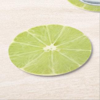 Lime Fruit Fresh Slice - Paper Coaster