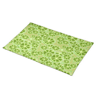 Lime Fruit Slice Pattern Placemat