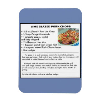 Lime Glazed Pork Chops Magnet