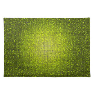 Lime Glitter Sequin Disco Glitz Pattern Placemat