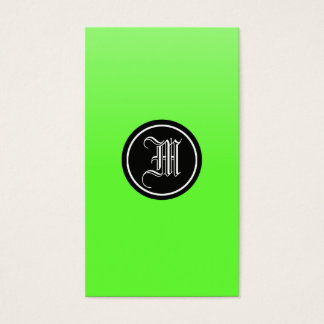 Lime Gothic Business Card