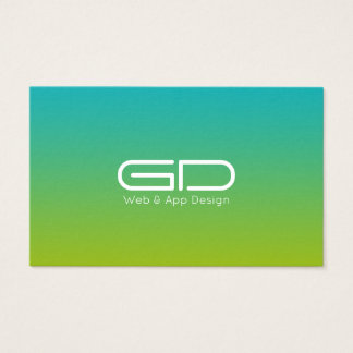 Lime gradient modern style business card