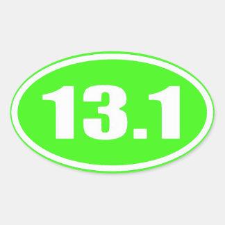 Lime Green 13.1 Sticker | Half Marathon