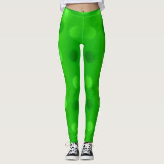 lime green 2 tone dots woman's pants