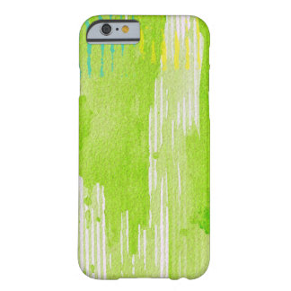 lime green abstract art barely there iPhone 6 case