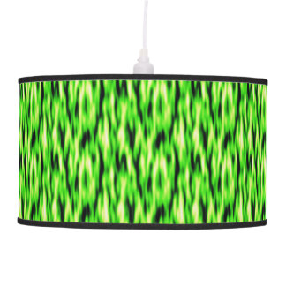 Lime Green Abstract Pattern Pendant Lamp