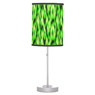 Lime Green Abstract Pattern Table Lamp