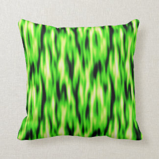 Lime Green Abstract Pattern Throw Pillow
