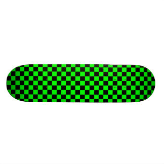 Lime Green and Black Checkered Skateboard