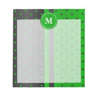 Lime Green and Black Polka Dots Notepad