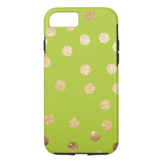 Lime Green and Gold City Dots Case-Mate iPhone Case