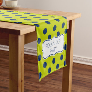 Lime Green and Navy Blue Personalized Short Table Runner