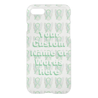 Lime Green Angel Awareness Ribbon iPhone Cases