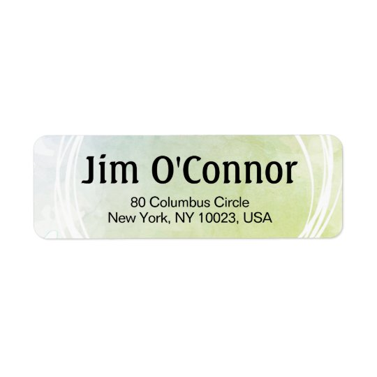 Lime Green Artsy Custom Label With White Circles Return Address Label