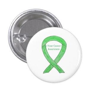 Lime Green Awareness Ribbon Angel Custom Buttons