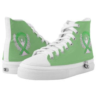 Lime Green Awareness Ribbon Angel Custom Shoes