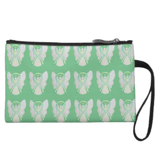 Lime Green Awareness Ribbon Clutch Purse