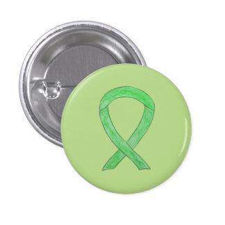 Lime Green Awareness Ribbon Custom Lapel Pin