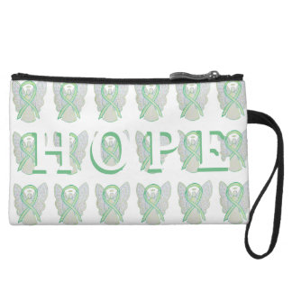 Lime Green Awareness Ribbon Hope Clutch Purse