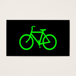 Lime Green Bike Business Card