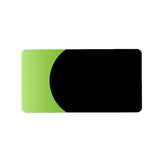 Lime green black stylish and elegant blank custom label