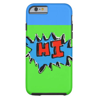 Lime Green Blue Hi iPhone 6 Case Tough iPhone 6 Case