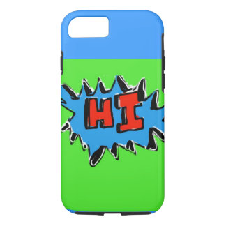 Lime Green Blue Hi iPhone 7 Case