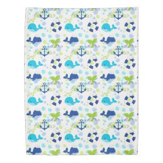 Lime Green Blue Nautical Kids Duvet Cover