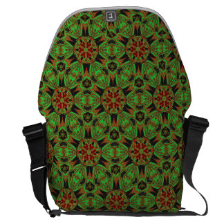 Lime Green Bohemian Messenger Bag