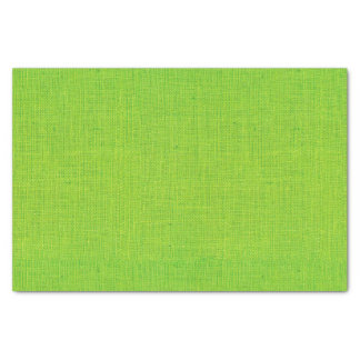 Lime Green Burlap Texture Tissue Paper