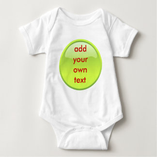 lime green button baby bodysuit