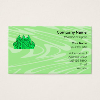 Lime Green Castle. Business Card