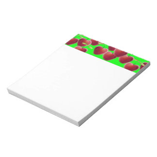 Lime Green Cherry Splash Notepad