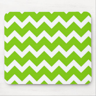 Lime Green Chevron Mouse Pad